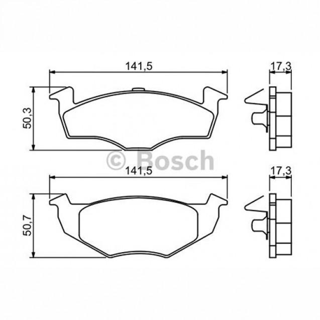 Bosch Тормозные колодки дисковые передние/ Skoda Fabia
