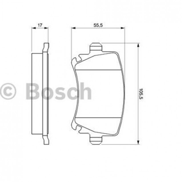 Bosch Тормозные колодки дисковые задние/ Skoda Octavia