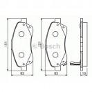Bosch Тормозные колодки дисковые передние/ Toyota Avensis