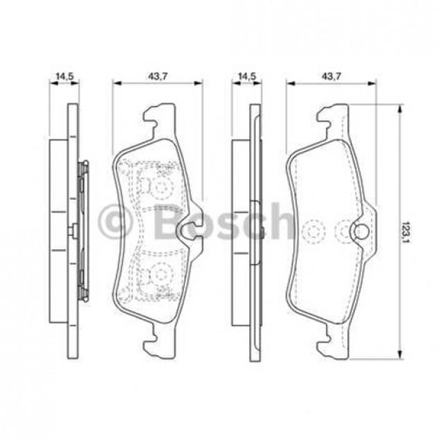Bosch Тормозные колодки/ Toyota Yaris
