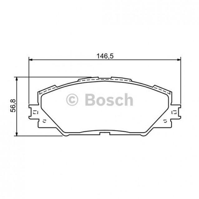 Bosch Тормозные колодки передние/ Toyota RAV4