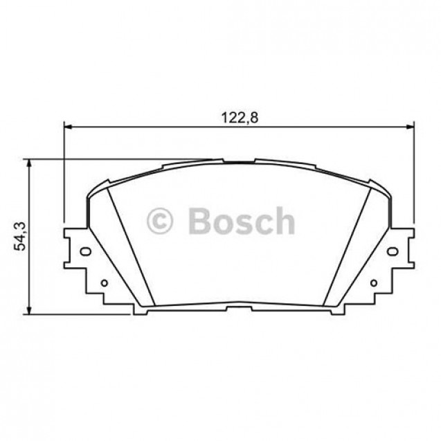 Bosch Тормозные колодки/ Toyota Prius