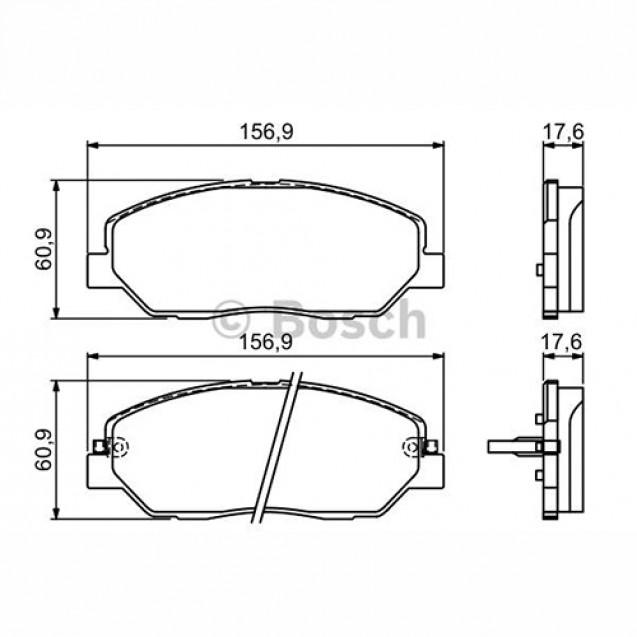 Bosch Тормозные колодки дисковые передние/ SSangYong Korando