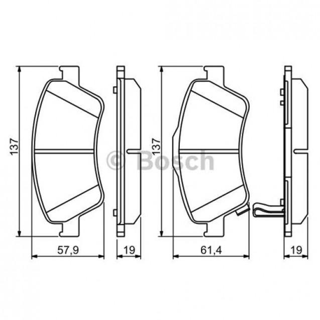 Bosch Тормозные колодки дисковые передние/ Toyota Auris