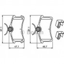 Bosch Тормозные колодки дисковые/ Toyota Avensis Verso