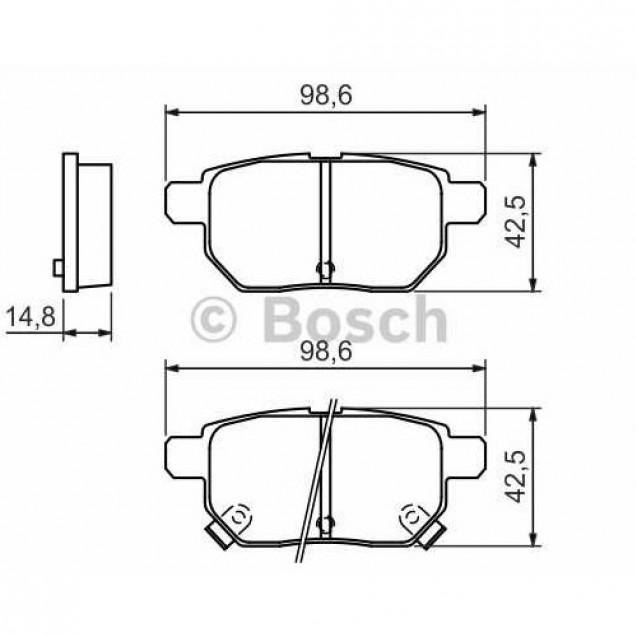 Bosch Тормозные колодки дисковые/ Toyota Prius