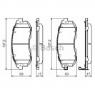Bosch Тормозные колодки дисковые/ Suzuki SX4