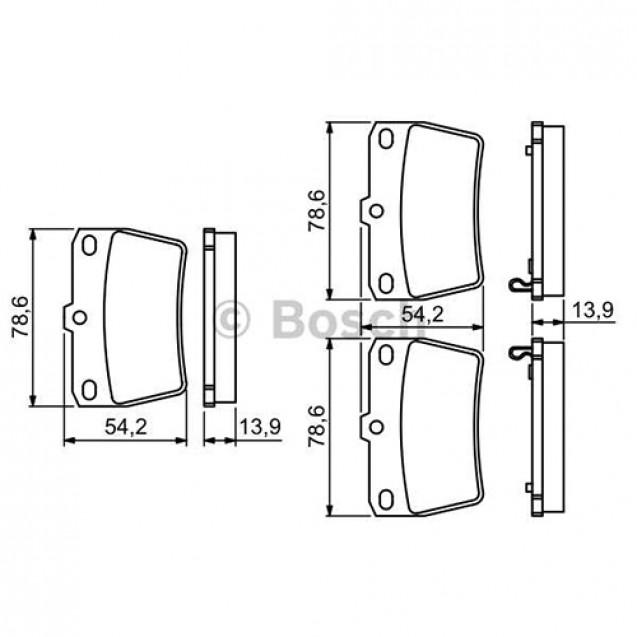 Bosch Тормозные колодки дисковые задние/ Toyota RAV4