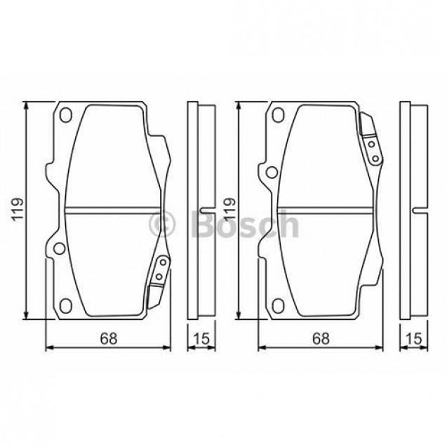 Bosch Тормозные колодки задние/ Toyota Hilux
