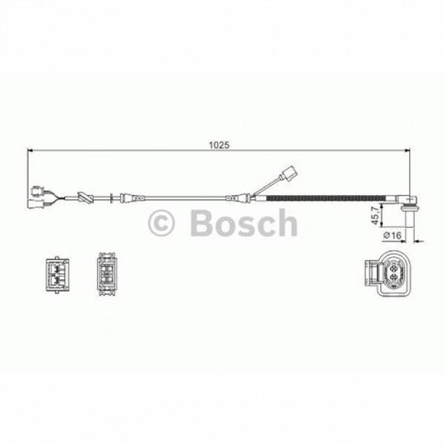 Bosch Датчик частоты вращения/ Skoda Superb