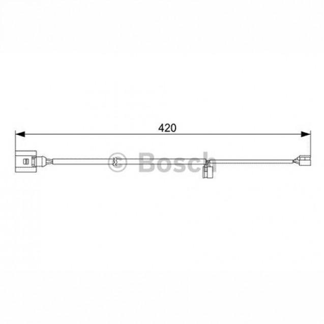 Bosch Датчик тормозных колодок передних/ Porsche Cayenne