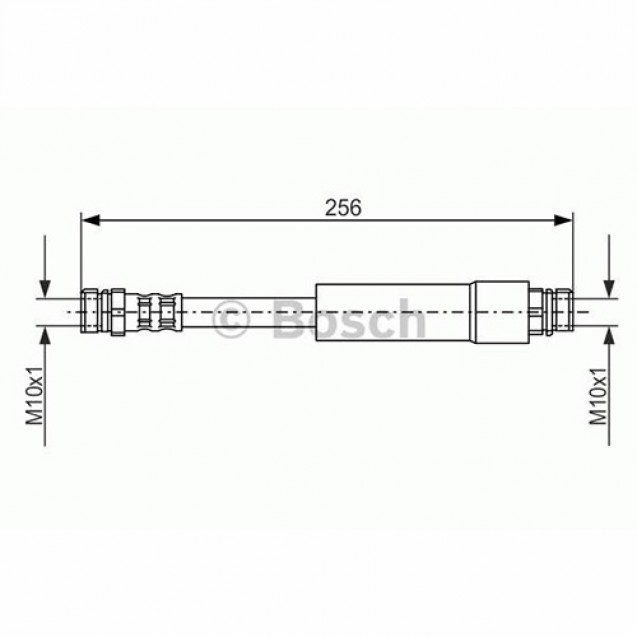 Bosch Тормозной шланг задний/ Skoda Octavia