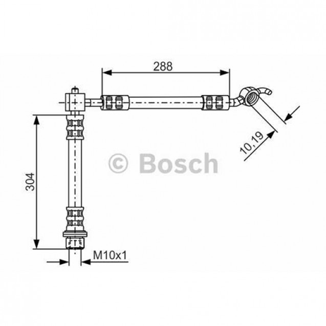 Bosch Тормозной шланг/ Toyota Yaris