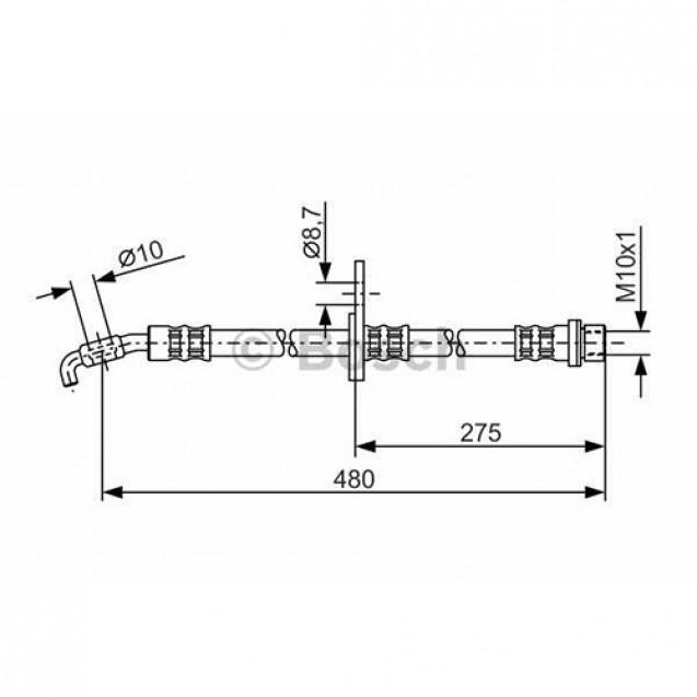 Bosch Тормозной шланг/ Toyota RAV4