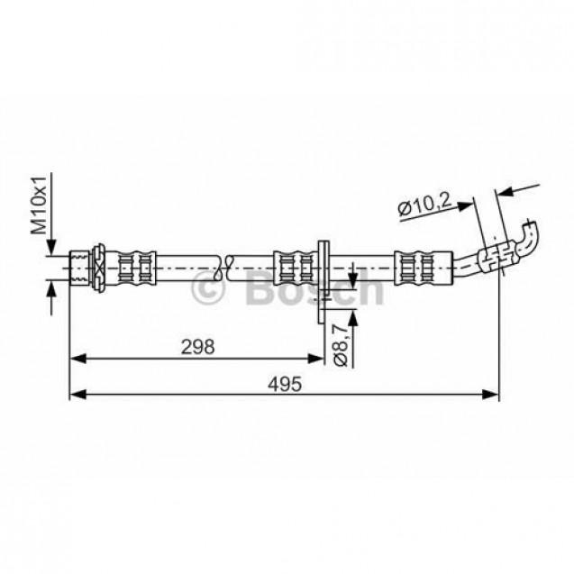 Bosch Тормозной шланг/ Toyota Camry