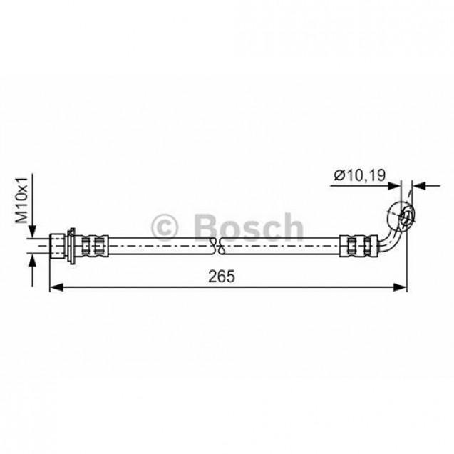 Bosch Тормозной шланг/ Toyota Land Cruiser