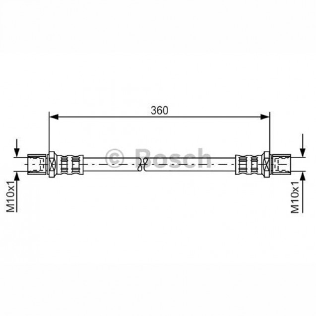 Bosch Тормозной шланг/ Subaru Forester