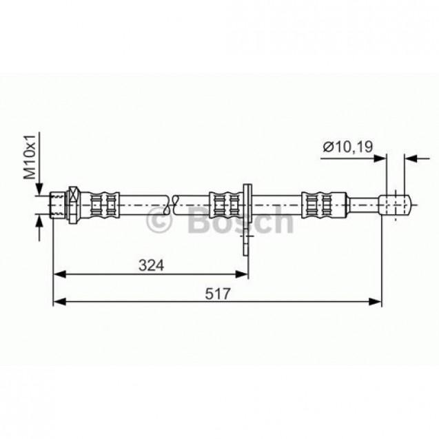 Bosch Тормозной шланг/ Subaru Impreza