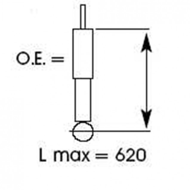 KYB Амортизатор Excel-G газовый задний/ Toyota RAV4