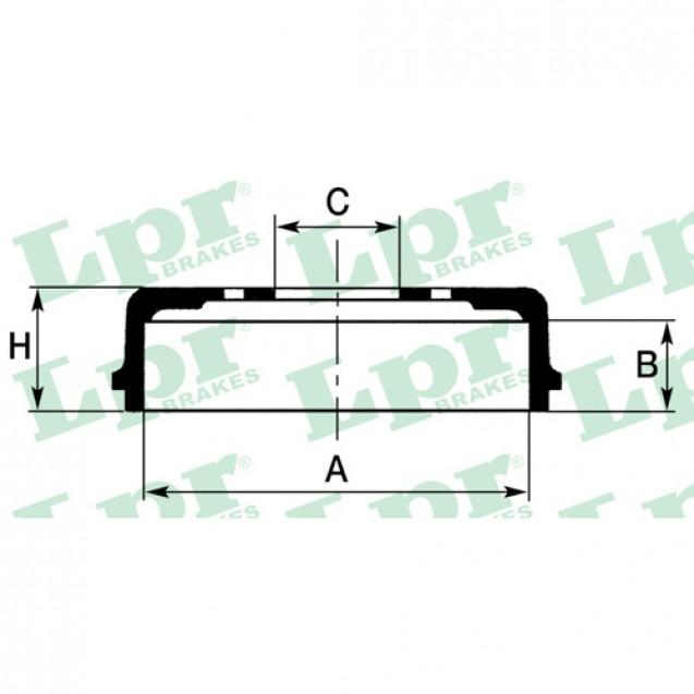 LPR Тормозной барабан/ Toyota Avensis