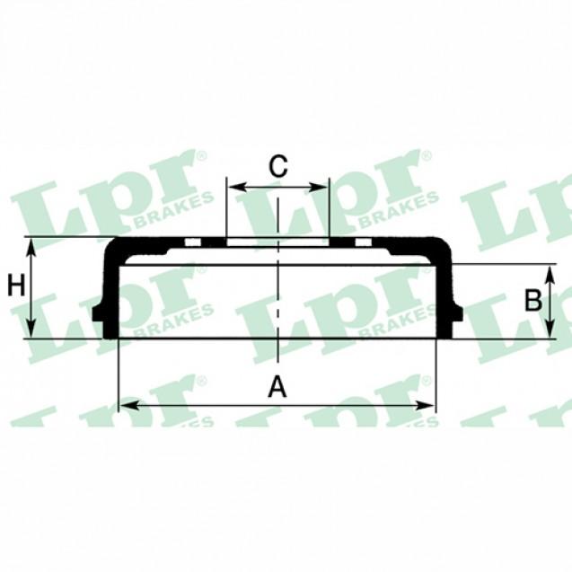 LPR Тормозной барабан/ Subaru Forester