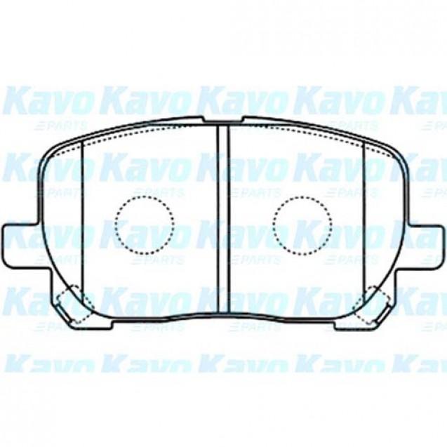 KAVO Тормозные колодки дисковые/ Toyota Avensis Verso
