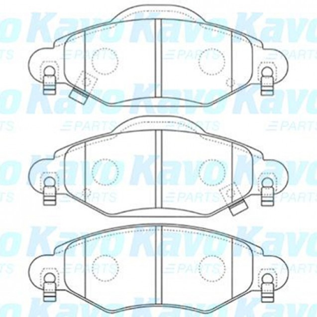KAVO Тормозные колодки дисковые/ Toyota Yaris
