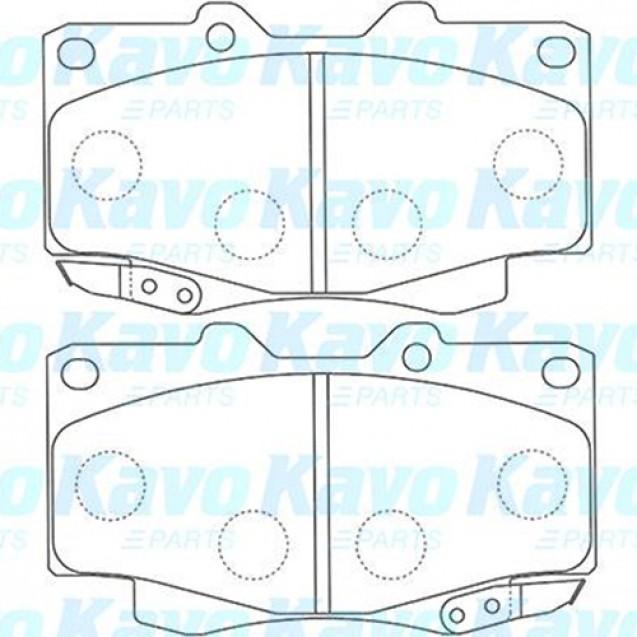 KAVO Тормозные колодки дисковые/ Toyota Hilux