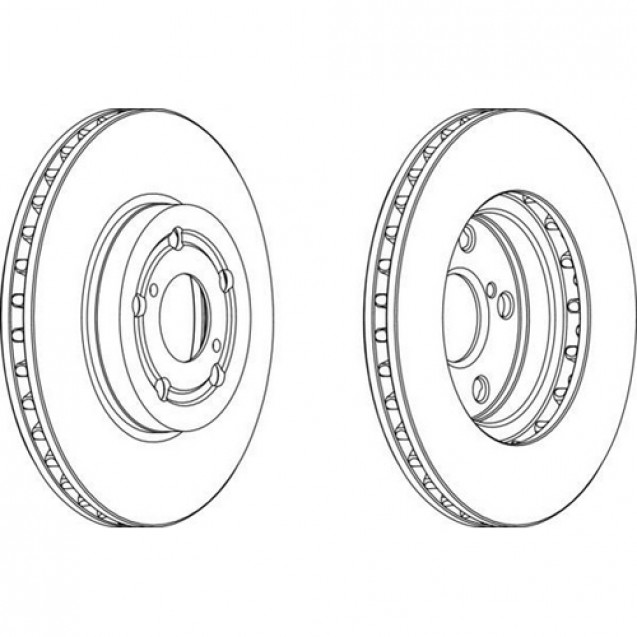 Ferodo Тормозной диск/ Toyota Avensis