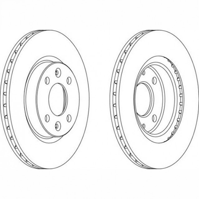 Ferodo Тормозной диск/ Renault Kangoo