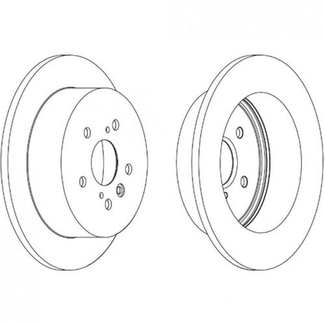 Ferodo Тормозной диск/ Toyota Avensis Verso