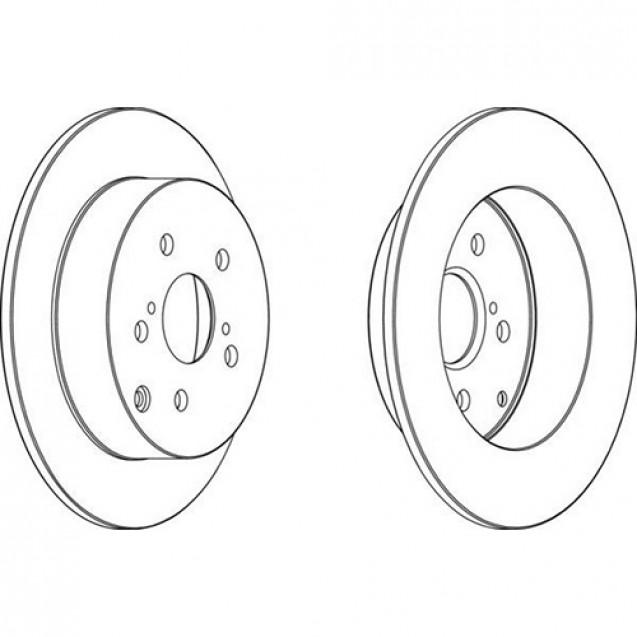 Ferodo Тормозной диск/ Toyota Corolla