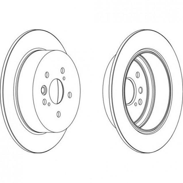 Ferodo Тормозной диск/ Toyota RAV4