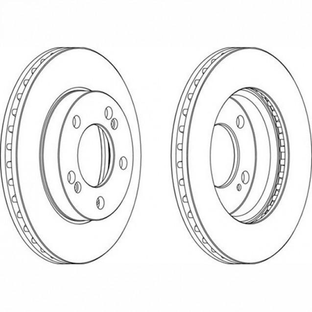 Ferodo Тормозной диск/ SSangYong Actyon