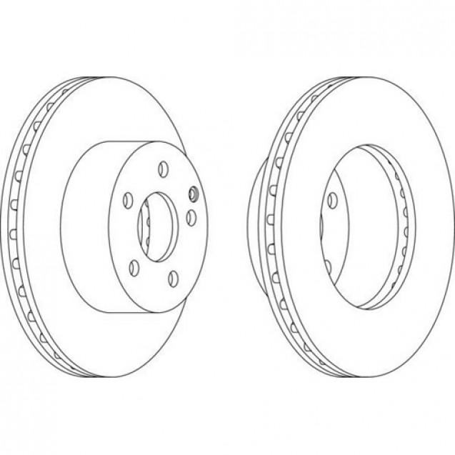 Ferodo Тормозной диск/ Toyota Auris