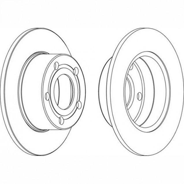 Ferodo Тормозной диск/ Skoda Superb