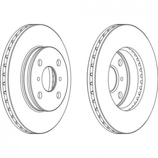 Ferodo Тормозной диск/ Toyota Carina