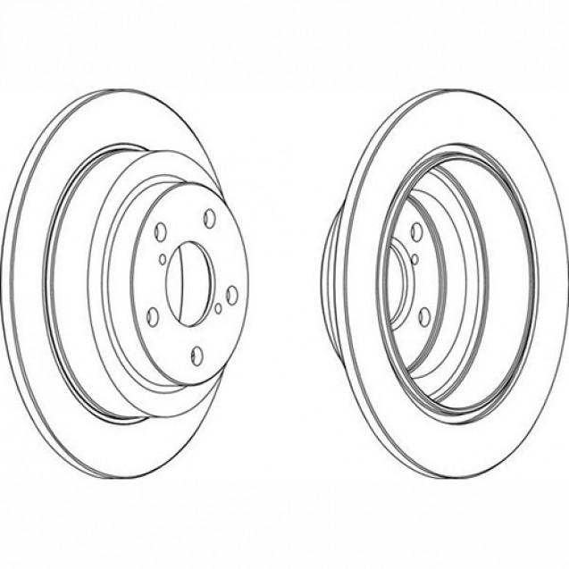 Ferodo Тормозной диск/ Subaru Forester