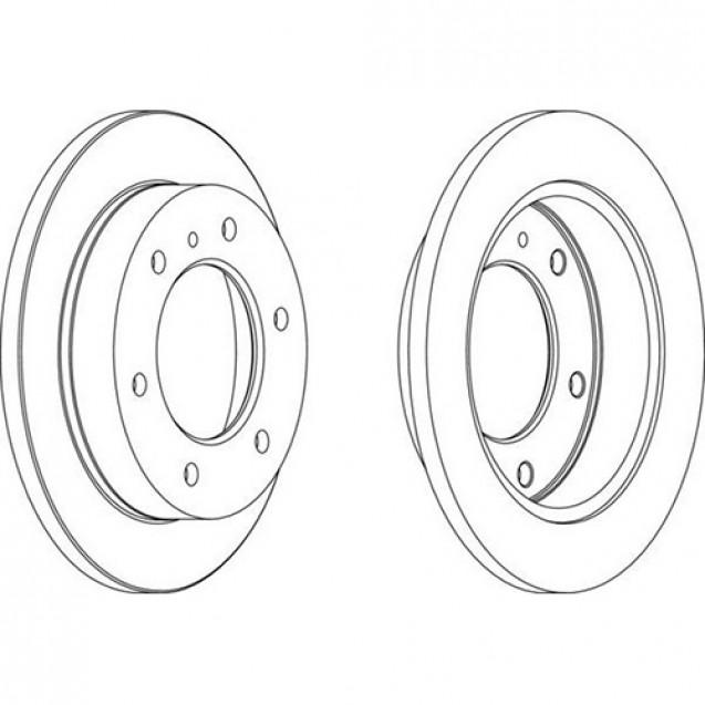 Ferodo Тормозной диск/ Toyota Previa