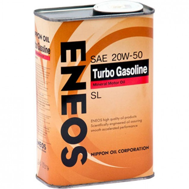 ENEOS Turbo Gasoline SL 20W50 Минеральное  масло 940ml