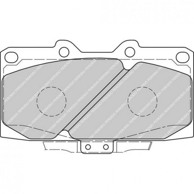 Ferodo Тормозные колодки дисковые/ Subaru Impreza