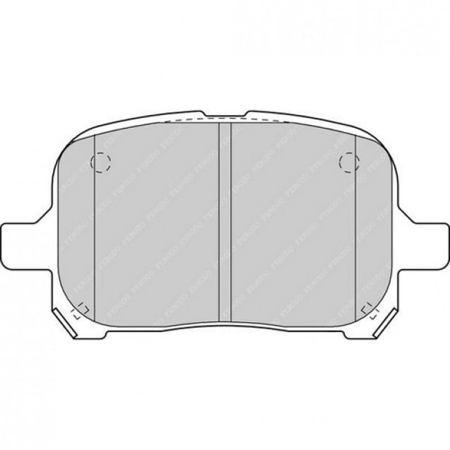 Ferodo Тормозные колодки дисковые/ Toyota Avalon