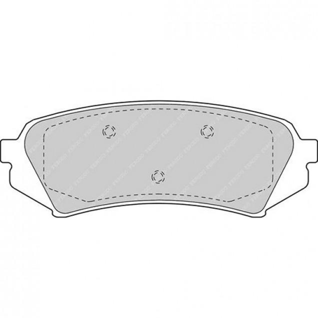Ferodo Тормозные колодки дисковые/ Toyota Land Cruiser