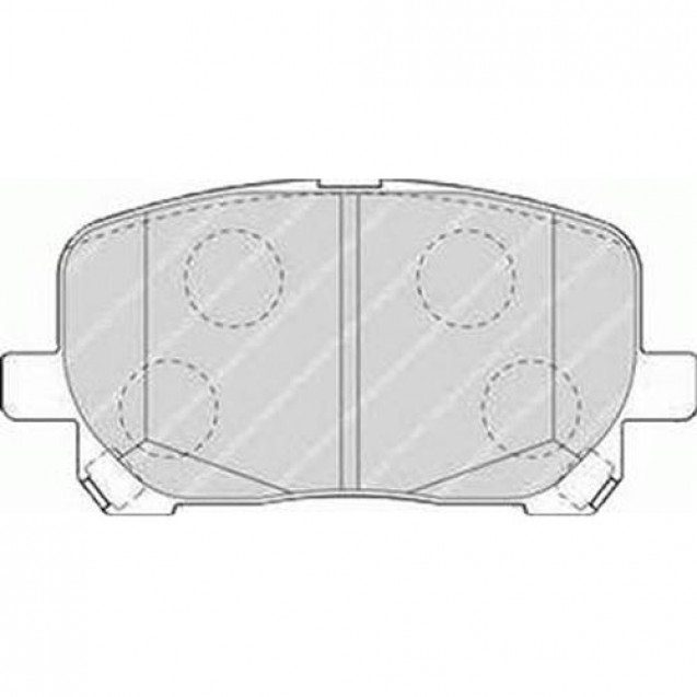Ferodo Тормозные колодки дисковые/ Toyota Avensis Verso