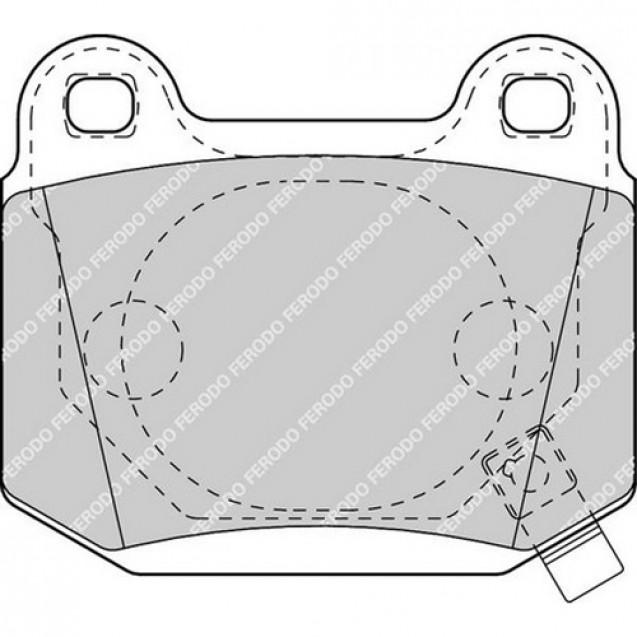 Ferodo Тормозные колодки дисковые/ Subaru Forester