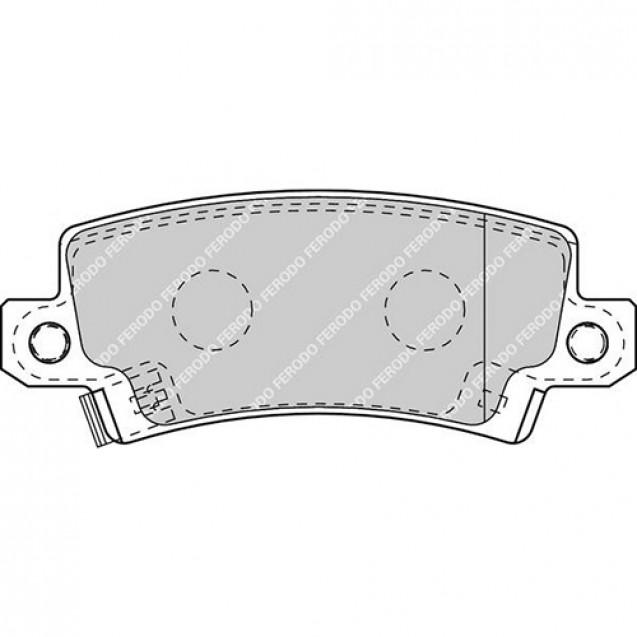 Ferodo Тормозные колодки дисковые/ Toyota Corolla