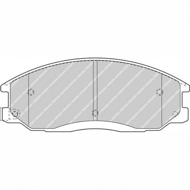 Ferodo Тормозные колодки дисковые/ SSangYong Actyon