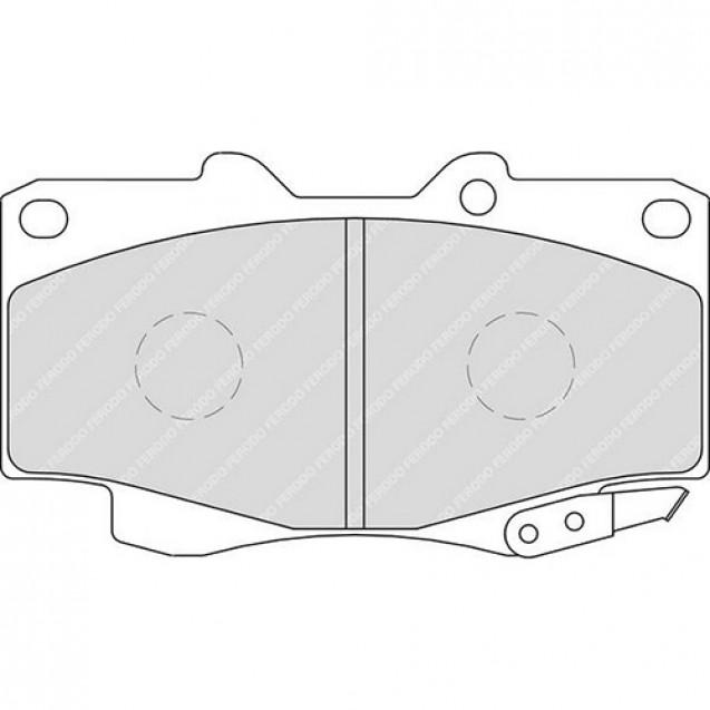 Ferodo Тормозные колодки дисковые/ Toyota Hilux