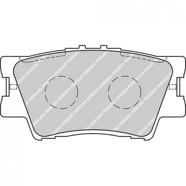 Ferodo Тормозные колодки дисковые/ Toyota RAV4