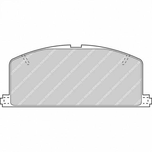 Ferodo Тормозные колодки дисковые/ Toyota Carina
